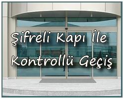 þifreli otomatik kapý ile kontrollü geçiþ
